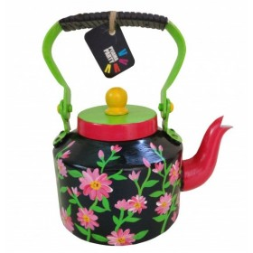Kettle - Tiny teapot hand-painted black beauty