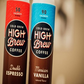 High Brew Coffee Double Espresso 8 Fl Oz (12 Count) Grab & Go Pre-Made Cold Brew Direct Trade Coffee Low-Acidity Caffeine Drink