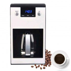PowCube Coffee Maker, Coffee Machine, 24 Hour Timer and Removable Filter Programmable Coffee Makers,Anti-Drip System, Permanent Reusable Filter (Standard)