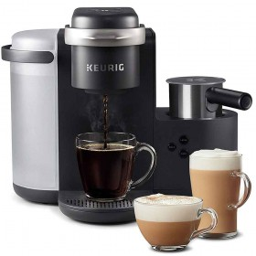 -Keurig K-Cafe Single-Serve K-Cup Coffee Maker, Latte Maker and Cappuccino Maker, Comes with Dishwasher Safe Milk Frother, Coffee Shot Capability, Compatible With all Keurig K-Cup Pods, Dark Charcoal