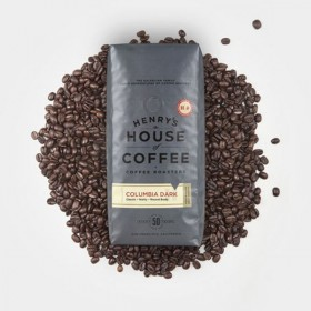 "Henry's House Of Coffee""Henry's Blend"" Medium Roasted Fair Trade Organic Whole Bean Coffee - 1 Pound Bag"