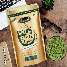 Ariginallo Premium Organic Green Coffee Beans for Weight Loss 350G SS